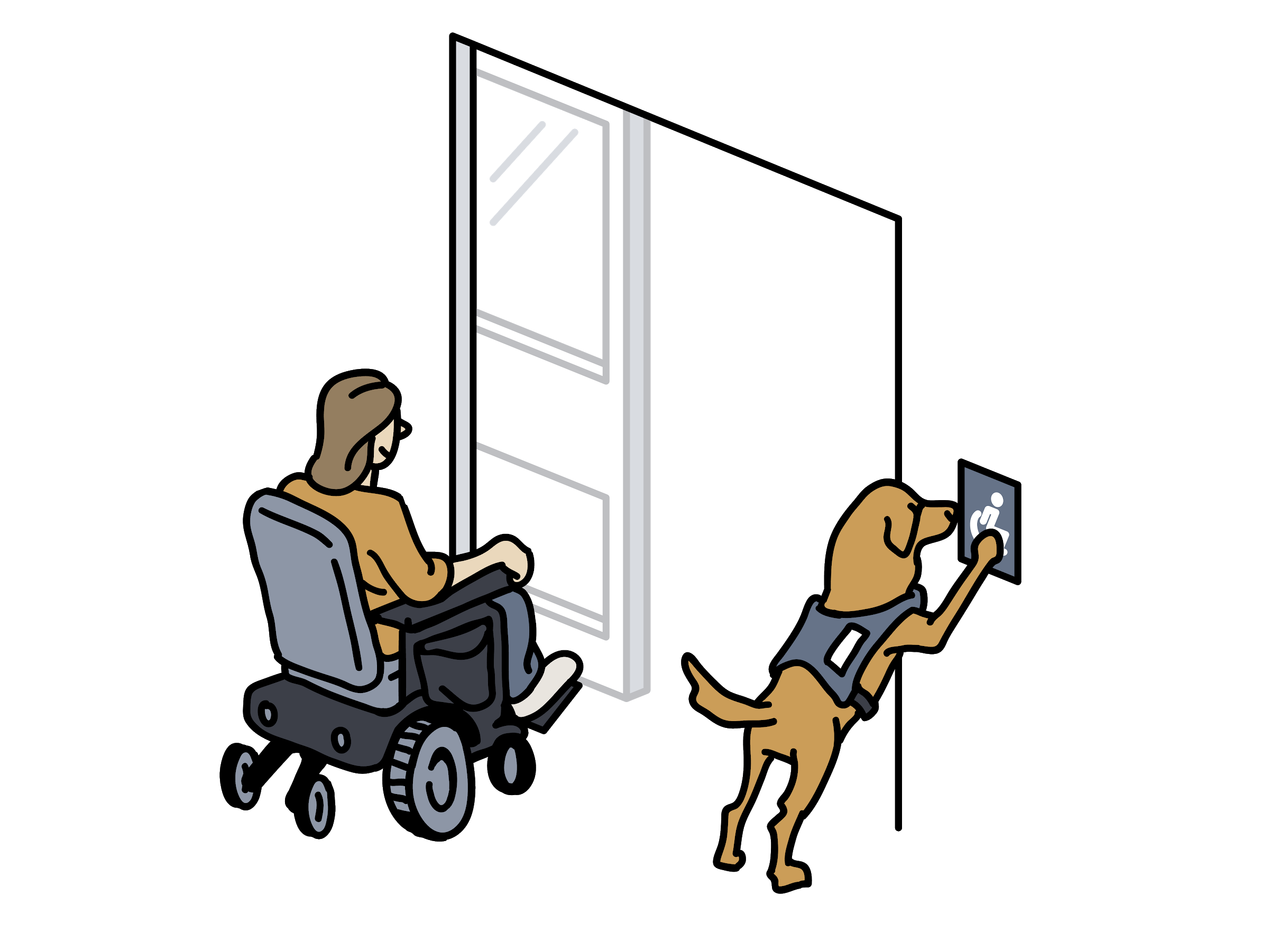 UNC_OpioidResearch_illustrations_studies__ServiceDog